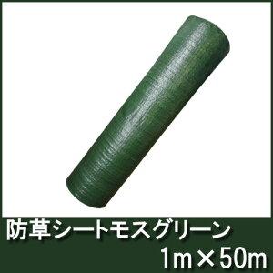 防草シートモスグリーン幅1m×50m【厚手・草よけシート】