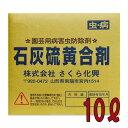 個人宅配送不可 5個 石灰硫黄合剤 10リットル 10L 殺虫殺菌剤 農薬 イN 送料無料 代引不可