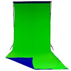 【送料無料】マンフロット LL LC5887 Lastolite クロマキーカーテン背景リバーシブル 3×7m ブルー/ グリーン【在庫目安:お取り寄せ】