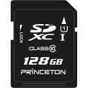 【送料無料】Princeton PSDU-128G UHS-I規格対応 SDXCカード128GB【在庫目安:お取り寄せ】