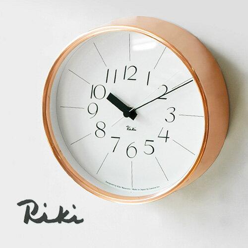 時計 壁掛け 掛け時計 【あす楽14時まで】 送料無料riki watanabe 銅の時計 WR11-04 【smtb-F】lemnos レムノス 時計 掛け時計 おしゃれ 連続秒針 音がしない riki clock◇ギフト プレゼント 壁掛け時計 掛け時計 デザイン plywood オシャレ雑貨