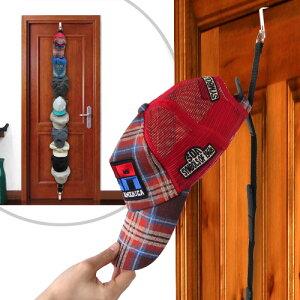 ドアが収納場所に! 簡単設置の 帽子ラック 収納 帽子 キャップ サンバイザー フック 省スペー...