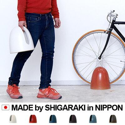 前輪をはめるだけで自立する信楽焼の自転車スタンド☆ 自転車スタンド 陶器 信楽焼 サイクルス...