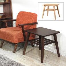 ASHアッシュサイドテーブル[天然木木製]北欧ナチュラルブラウン