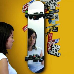 送料無料 スケート ミラー スケボーミラー スケートボードミラー スケボー スケートボード ミラ...