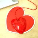 プレゼントに人気!ハート型がパソコン周りを華やかに♪【あす楽18時まで】 Heart Mouse&Pad se...