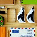 【送料80円メール便OK】かわいいペンギン型!カードホルダーにも(修正液 修正ペン)結婚 引越し ...