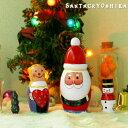 ロシアの伝統的 民芸品 素朴で 可愛い サンタクロース クリスマスオブジェ 木製 ラブ ノード 人...