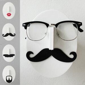 【あす楽18時】Mustache Eye Glasses Holder ムスタッシュ アイグラスホルダー [ 髭眼鏡 メガネ スタンド ]めがね メガネ 眼鏡 スタンド メガネ置き 眼鏡置き 収納 インテリア 雑貨 おもしろ 雑貨 ヒゲ 【楽ギフ_包装】(S)