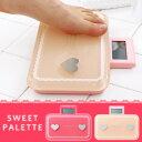 可愛い ピンク ハート&レース の体重計 体脂肪計♪ スリム & コンパクト だから収納に便利! ...