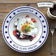 プレートお皿おしゃれフィッシュズエディマンハッタンブループレートスペシャルディナープレート26cmFishsEddyManhattanBluePlateSpecialDinnerPlateアメリカ陶器食器