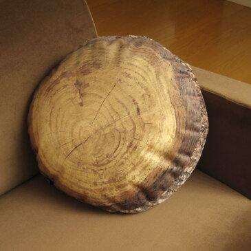 【あす楽14時まで】 送料無料 ドイツ製 Mero Wings Forest Collection Round Cushion 40 メロウィングス フォレストコレクション 《 ラウンドクッション / 直径40cm 》 【クッション 北欧 綿 円形 ラウンド インテリア 丸太】【smtb-F】