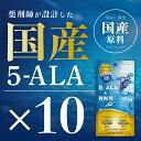 お得な10個セット【原料はネオファーマジャパン社製5ALAを1粒中に25mg使用】【5ALAを1粒中に25mg使用】【日本製 / 国産原料使用】『5-ALA & NMN 30粒 10個セット』 2