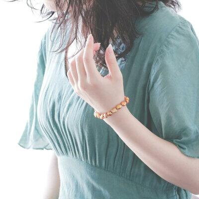 向日葵色の淡水真珠バロックブレスレットのイメージ写真