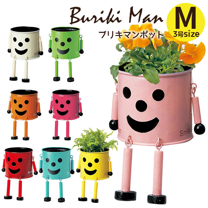 植木鉢 ブリキマンポット M