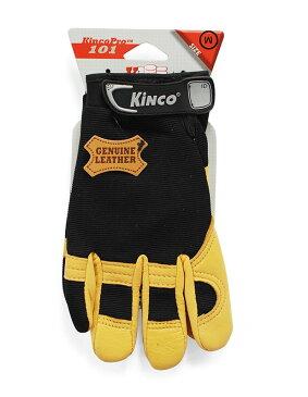 【ポイント2倍!エントリーで6倍 〜11/10限定】 ワークグローブ Kinco Gloves(キンコグローブ) Kincopro Unlined Grain Deerskin 101M/L