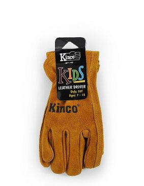【ポイント2倍!エントリーで6倍 〜11/10限定】 ワークグローブ 牛革 子供用 Kinco Gloves(キンコグローブ) Child's Split Cowhide Leather Driver 50C/Y 【メール便対応・2個まで】
