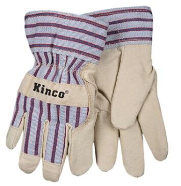 【ポイント2倍!エントリーで6倍 〜11/10限定】 ワークグローブ ウルトラスウェード 子供用 Kinco Gloves(キンコグローブ) Child's Lined Ultra Suede Palm 1927-C