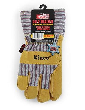 【ポイント2倍!エントリーで6倍 〜11/10限定】 ワークグローブ 豚革 Kinco Gloves(キンコグローブ) Lined Grain Pigskin Leather Palm 1927M