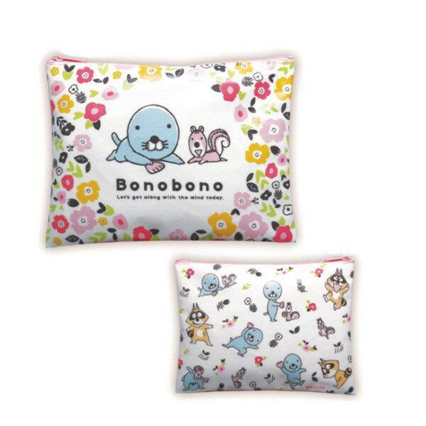 ぼのぼの ポーチ(フラワー)BO-PO101 bonobono画像