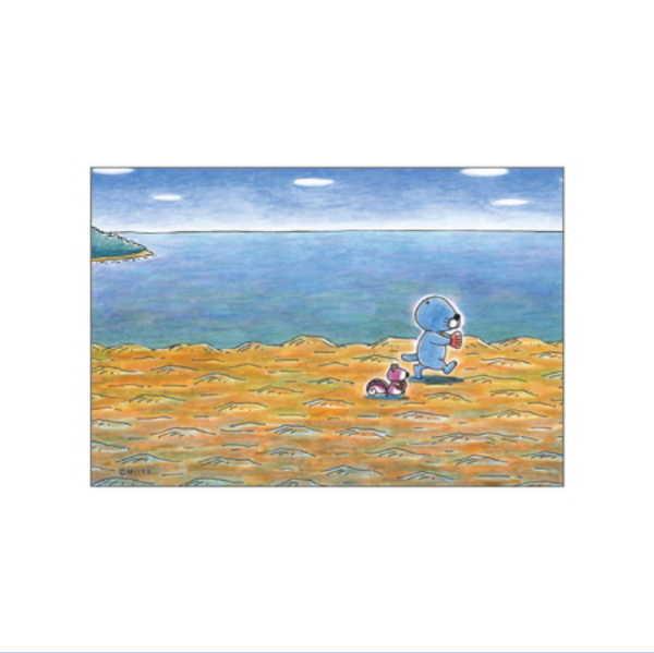 ぼのぼの ポストカード(てくてく歩く) BO-PT022 bonobono画像
