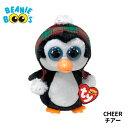 【TY】ぬいぐるみ【BEANIEBOO'S】CHEERチアービーニーブーズペンギンMサイズ15cmクリスマス