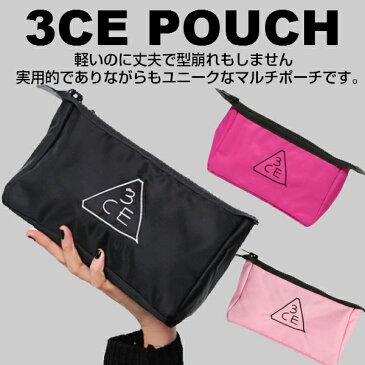 【韓国コスメ】3コンセプトアイズ【3CE】STYLENANDA化粧ポーチ オリジナルサイズ 正規品 pouch 3カラー