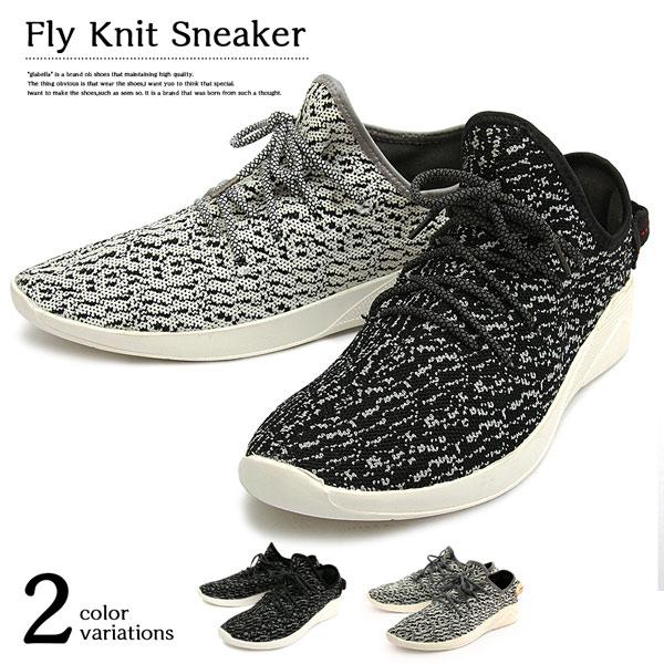 フライニット スニーカー ローカット ニット メンズ シューズ 軽量 Low cut Fly Knit Sneaker きれいめ ストリート ファッション ブーツ 紳士靴 彼氏 男性 カジュアル