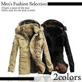 メンズミリタリーフードコート メンズ ファッションアウトドアスポーツ アウター ストリート アウターウェア 彼氏 男性 Men's