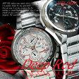 メタルバンド デザイン クロノグラフ ウォッチ メンズ 男性用 腕時計◇DR-9681