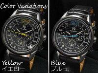 腕時計自動巻革バンド24針DAY&DATE日付曜日◇FU-6002