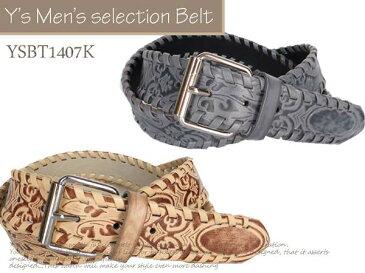 メンズ カジュアル ビジネス ベルト 紳士ベルト 牛革ベルト ♪ロング♪ 120cm★YSBT1407K
