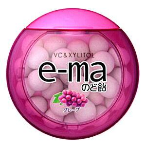 味覚糖e-maのど飴 グレープ33g丸型容器×6入 【イーマ】