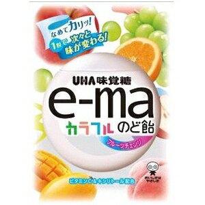 味覚糖e-maのど飴袋 カラフルフルーツチェンジ50g×6袋入 【イーマ】