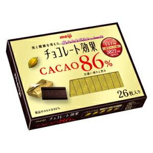 【期間限定特価】 あす楽明治 チョコレート効果カカオ86% 26枚入り130g×6箱入