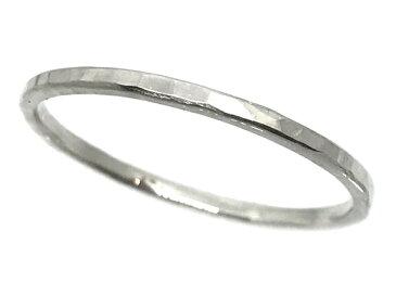 タタキシルバーリング/1.5mm/ペアリング/極細平打ちリング/ハンドメイド/シルバー925/銀/指輪/平打ち