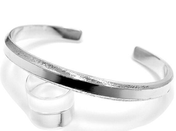カッティングバングル シルバー925 シンプル プレーン ブレスレット 銀製