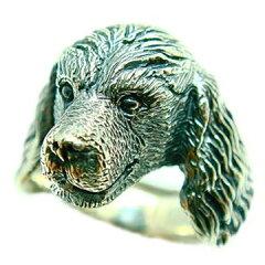 キャバリアキングチャールズスパニエル/犬/シルバー925/リング/指輪/ドッグ/Dog/ring/犬リング/イヌリング/Silver925[POCKETポケット]
