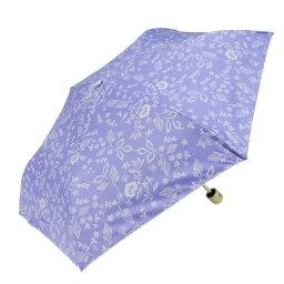 Fair mode 晴雨兼用 折りたたみ傘 50cm mini ピコレース フラワーレジェール SM-2025 パープル