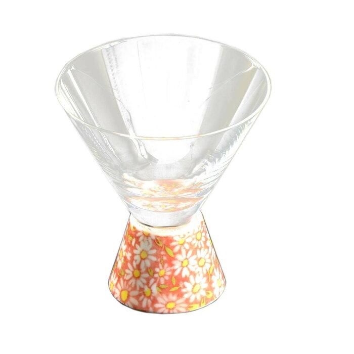 有田焼 有田浪漫グラス SAKE GLASS 台形 赤小菊