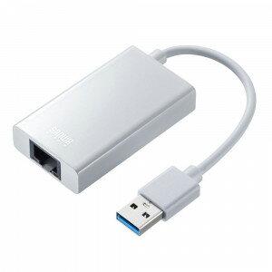 サンワサプライ USB3.1-LAN変換アダプタ USBハブポート付・ホワイト USB-CVLAN3W