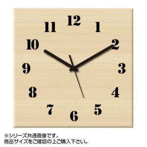 MYCLO マイクロ 壁掛け時計 ウッド素材 メープル 四角 23cm 木製時計 com409