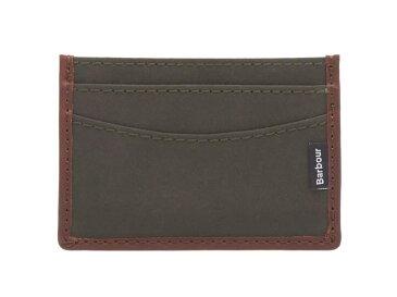 【BARBOUR/バブアー】Drywax Card Holder・ドライワックスカードホルダー/オリーブ (オイルドコットン・国内未発売!)