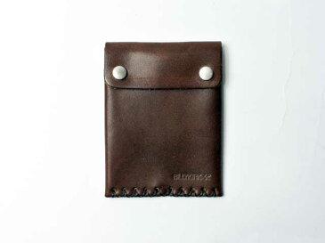 【BILLYKIRK/ビリーカーク】No. 092 Leather Card Case with Snaps・スナップレザーカードケース/ダークブラウン (ハンドクラフト・国内未展開・NYブランド・メイドインアメリカ・ヤマトメール便で送料無料)