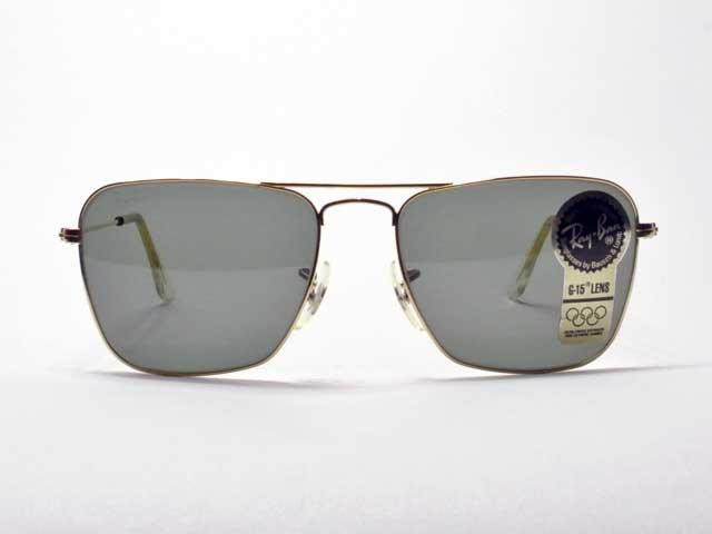Hughes Black 60mm Teardrop Glass Lens Dead Stock Vintage Aviator Sunglass