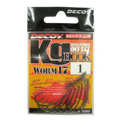 カツイチ キロフックワーム17(kg HOOK WORM17) 1
