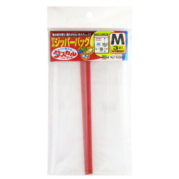 ささめ針 タスカル ジッパーバッグ TKG01 M【ゆうパケット】