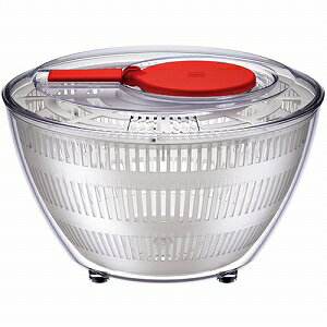 ワールドクリエイト 野菜水切り器 viv サラダスピナー L レッド 68202