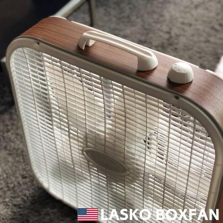 扇風機 LASKO ラスコ ボックスファン ウォールナット 3733 サーキュレーター アメリカン インダストリアル レトロ おしゃれ かっこいい 軽量 HERMOSA ハモサ