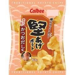 カルビー 堅あげポテト かつおだし味 63g×12入(12月上旬頃入荷予定)